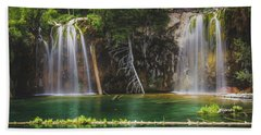 Serene Hanging Lake Waterfalls Bath Towel