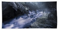 Serene Moonlit River Bath Towel