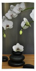 Serene Orchid Hand Towel by Terence Davis
