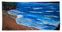 Serene Seashore Bath Towel