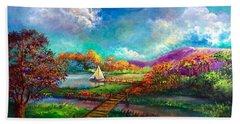 Serenely Sailing/navegando Serenamente Hand Towel