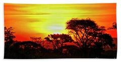 Serengeti Sunset Bath Towel