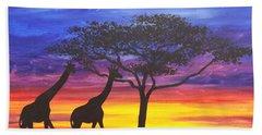 Serengeti Sunset Bath Towel by Darren Robinson