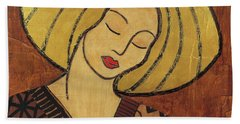 Hand Towel featuring the mixed media Serenity by Gloria Rothrock