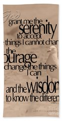 Serenity Prayer 04 Bath Towel by Vicki Ferrari