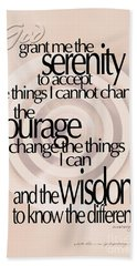 Hand Towel featuring the photograph Serenity Prayer 06 by Vicki Ferrari