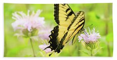 Series Of Yellow Swallowtail #4 Of 6 Hand Towel