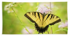 Series Of Yellow Swallowtail #6 Of 6 Hand Towel