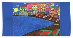 Hand Towel featuring the painting Sestri Levante Italy by Jonathon Hansen