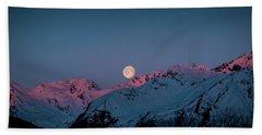Setting Moon Over Peaks IIi Bath Towel