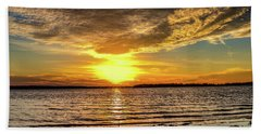 Setting Sun Hand Towel by Doug Long