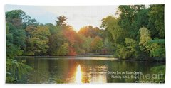 Setting Sun On The River Charles Hand Towel