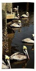 Seven Pelicans Bath Towel