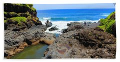 Hand Towel featuring the photograph Seven Sacred Pools Of Maui by Michael Rucker