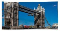 Seven Seconds - The Tower Bridge Hawker Hunter Incident  Bath Towel