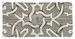 Seventeenth Century Design For Parterre Hand Towel