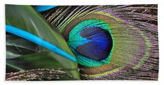 Several Feathers Bath Towel by Angela Murdock