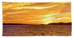 Sf Bay Area Sunset Hand Towel