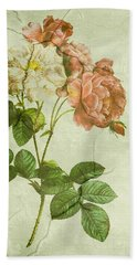 Shabby Chic Pink And White Peonies Bath Towel