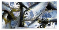 Hand Towel featuring the painting Shad  by Phyllis Beiser