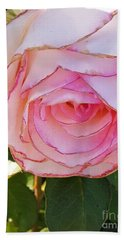 Bath Towel featuring the photograph Shaded Rose by Jasna Gopic