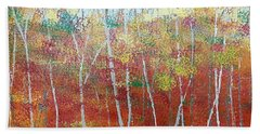 Bath Towel featuring the painting Shades Of Autumn by Judi Goodwin