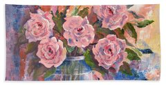 Shades Of Flowers Bath Towel