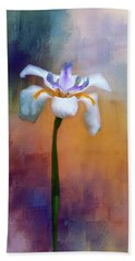 Hand Towel featuring the photograph Shades Of Iris by Carolyn Marshall