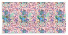 Hand Towel featuring the photograph Shades Of Pink And Blue by Nareeta Martin