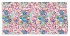 Shades Of Pink And Blue Bath Towel by Nareeta Martin