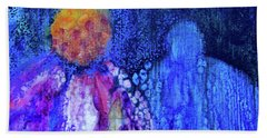 Shadow Abstract Bloom Bath Towel