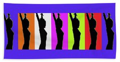 Shadow Dancers In A Row Bath Towel by Robert J Sadler