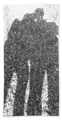 Shadow In The Meadow Bw Hand Towel