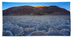 Shadows Fall Over Badwater Bath Towel