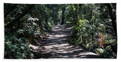 Shady Road On Mt Tamalpais Bath Towel