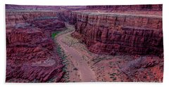 Shafer Canyon At Sunset - Moab - Utah Bath Towel by Gary Whitton
