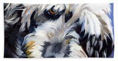 Shaggy Dog Portrait Bath Towel