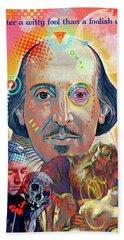 Shakespeare Hand Towel by Gary Grayson
