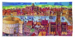 Shakespeare's Globe Theater On The Southbank Bath Towel