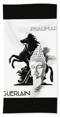 Hand Towel featuring the digital art Shalimar by ReInVintaged