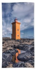 Shallows Of The Golden Shoreline Hand Towel