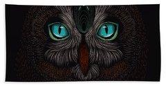 Shaman Spirit Owl Hand Towel