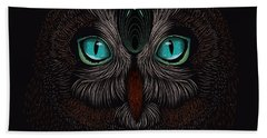 Shaman Spirit Owl Bath Towel