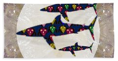 Shark Fish Dangerous Painted Cartoon Face Link For Download Option Below Personal N Commercial Uses Bath Towel