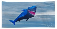 Shark Kite Hand Towel