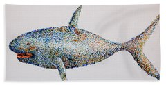 Hand Towel featuring the painting Shark by Tamyra Crossley