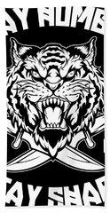 Sharp Tiger Bath Towel