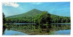 Bath Towel featuring the photograph Sharp Top Mountain At Abbot Lake - Peaks Of Otter by Kerri Farley