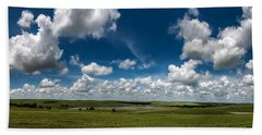 Sharps Creek Road Panorama Bath Towel