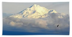 Shasta Near Sunset Hand Towel by AJ Schibig